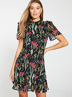 oasis-floral-chiffon-skater-dress