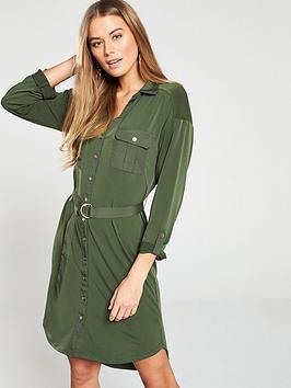 oasis-utility-crepe-shirt-dress-khaki
