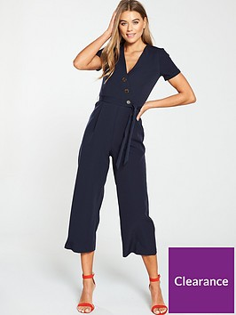 oasis-button-through-jumpsuit-navy