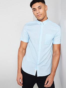 river-island-short-sleeve-linen-shirt