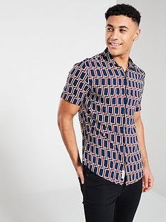 river-island-short-sleeve-geo-print-shirt