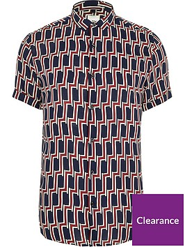 river-island-geo-print-big-and-tall-shirt