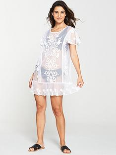 v-by-very-embroidered-mesh-dress-cream