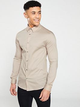 river-island-ls-muscle-poplin-shirt