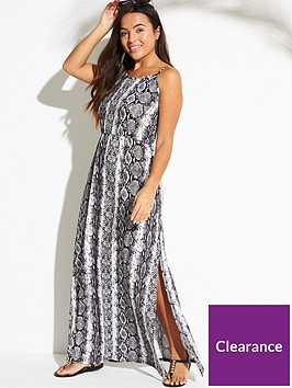 v-by-very-maxi-beach-dress-with-side-splits-snake-print
