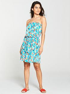 v-by-very-bandeau-jersey-beach-dress-aqua-print