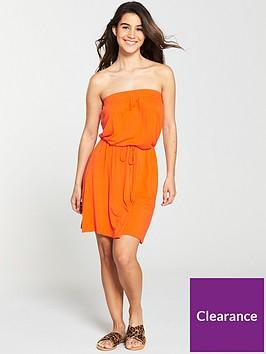 v-by-very-bandeau-jersey-beach-dress-orange