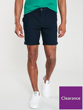 selected-homme-paris-straight-linen-shorts-dark-blue