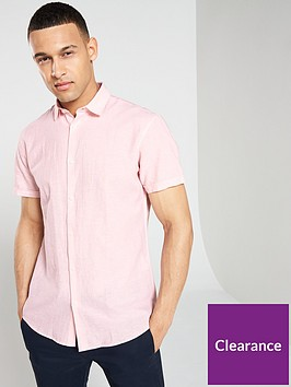 selected-homme-regular-linen-classic-short-sleeve-shirt-pink
