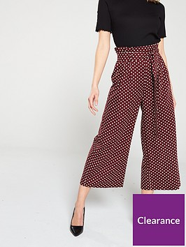 miss-selfridge-polka-dot-paperbag-trousers-red