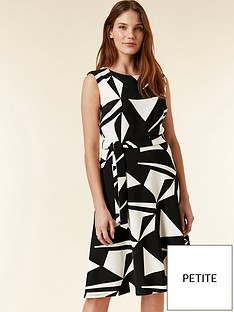 18c18432091 Wallis Petite Geo Print Dress - Black   White