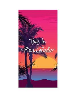 Deyongs Deyongs Time For Pina Colada Beach Towel Picture
