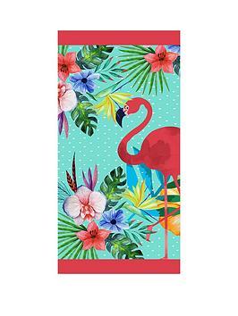 deyongs-tropical-flamingo-beach-towel
