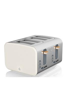 Swan Swan 4 Slice Nordic Style Toaster - White Picture