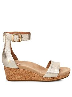 ugg-zoe-ii-metallic-wedges-gold