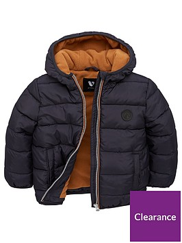 v-by-very-boys-fleece-lined-padded-hooded-coat-navytan