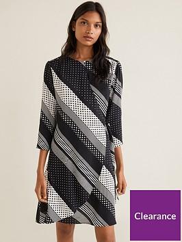 mango-mixed-spot-wrap-dress