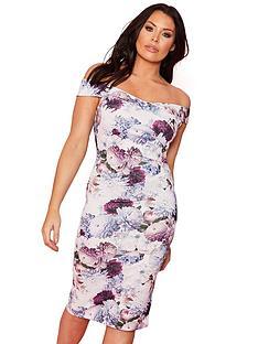 sistaglam-loves-jessica-wright-bardot-scuba-bodycon-midi-dress-floral