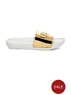 ugg-royale-graphic-metallic-slider-shoes-gold
