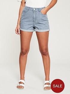v-by-very-mid-rise-mom-shorts-pinstripe