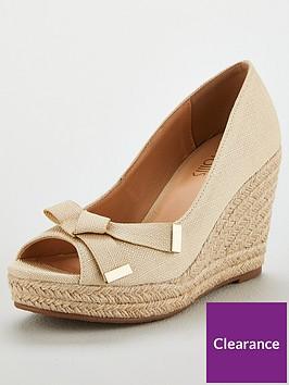 wallis-bow-trim-textile-espadrille-wedge