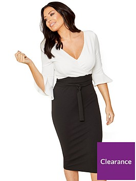 sistaglam-loves-jessica-wright-2-in-1-wrap-top-bodycon-midi-dress-blackwhite
