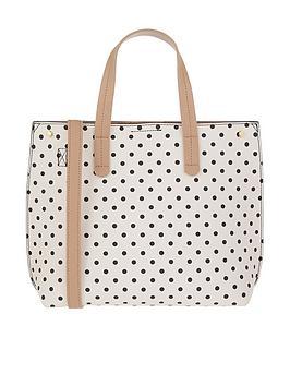 accessorize-ella-polka-dot-handheld-bag-blackwhite