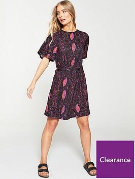v-by-very-angel-sleeve-tea-dress-snake-print