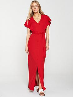 v-by-very-jersey-crepe-button-through-maxi-dress-rednbsp