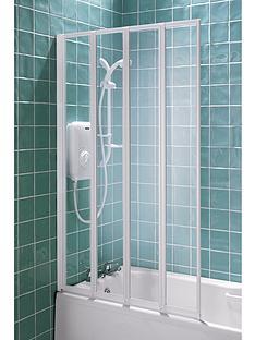 aqualux-4-fold-bathshower-screen-white-140x84cm