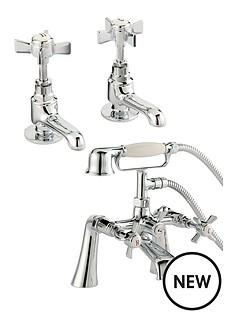 bristan-traditional-basin-tap-set-and-bath-shower-mixer-chrome