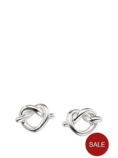 the-love-silver-collection-sterling-silver-love-knot-stud-earrings
