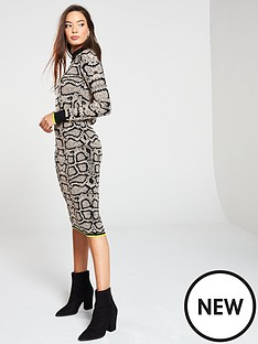 river-island-snake-print-knit-midi-dress
