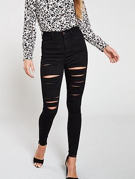 v-by-very-addison-super-high-waisted-all-over-ripped-super-skinny-jeans-black