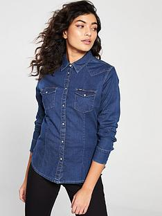 wrangler-slim-western-denim-shirt