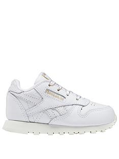 reebok-classic-leather-infant-trainers-whitegreygold