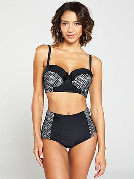 v-by-very-shapewear-underwired-lace-panelled-bikini-top-black