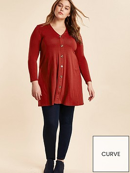 evans-button-through-swing-tunic--nbspterracotta
