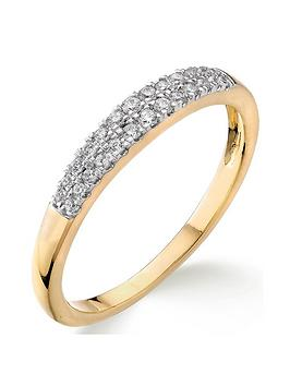 Love DIAMOND Love Diamond 9Ct Gold 15 Point Diamond Two Row Wedding Band Picture