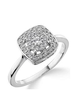 Love DIAMOND Love Diamond 9Ct White Gold 20 Point Diamond Square Set  ... Picture