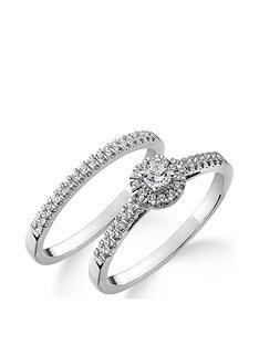 love-diamond-9ct-white-gold-14-carat-diamond-cluster-bridal-set