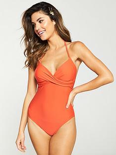 v-by-very-essentials-crossover-swimsuit-dark-orange