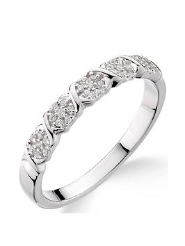 Love DIAMOND Love Diamond 9Ct White Gold 10 Point Diamond Kiss Detail  ... Picture