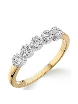 Love DIAMOND Love Diamond 9Ct Gold 20 Point Diamond 5 Stone Eternity Ring Picture