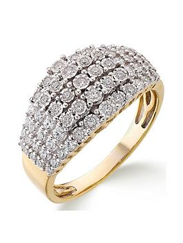 Love DIAMOND Love Diamond 9Ct Gold 1/2 Carat Diamond Total 5 Row Eternity  ... Picture