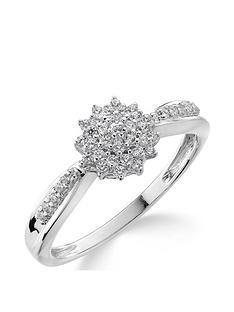 love-diamond-9ct-gold-15-point-diamond-cluster-ring