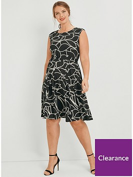 evans-fit-and-flare-dress-mono