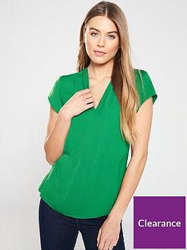 v-by-very-notch-neck-short-sleeve-top-green