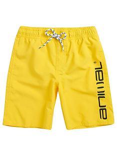 animal-boys-tannar-logo-swim-shorts-bright-yellow