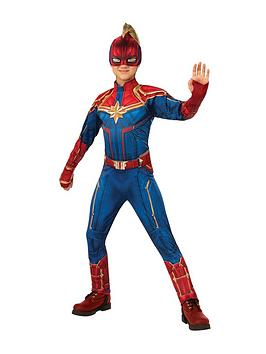 Marvel Marvel Child Deluxe Captain Marvel Hero Suit Picture